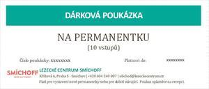 Dárková poukázka na permanentku na 10 vstupů