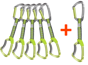 Expresky Climbing Technology Lime Special set 6 ks green