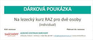 Dárková poukázka - Pro 2 osoby na lezecký kurz RAZ individuál