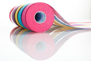 tape BB kineziotape 5x5cm, Červená - 1