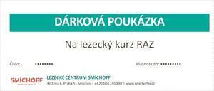 Dárkový poukaz - lezecký kurz RAZ v hodnotě 1280 Kč