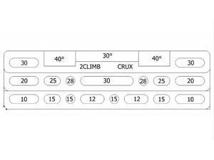 Posilovací deska 2Climb Crux - 5